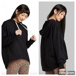 Drawstring Hoodie Sweatshirt Wild Fable Black XS